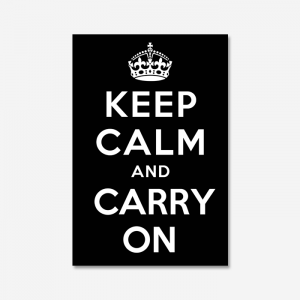 KEEP CALM AND CARRY ON_Black