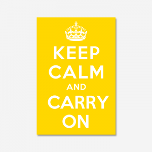KEEP CALM AND CARRY ON_Yellow
