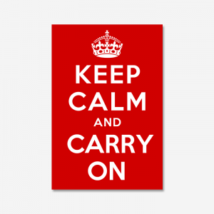 KEEP CALM AND CARRY ON_Red