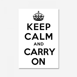 KEEP CALM AND CARRY ON_White